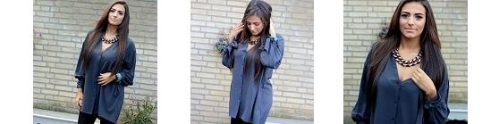 miniatuur grey blouse
